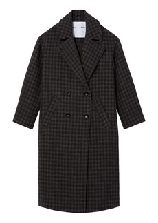 Proenza Schouler Plaid Wool & Cotton Blend Double Breasted Coat