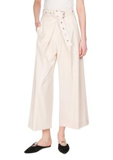 Proenza Schouler Pleat-Front Wool-Stretch Culottes