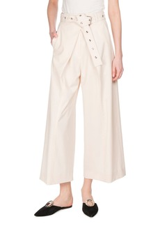 Proenza Schouler Pleat-Front Wool-Stretch Culottes