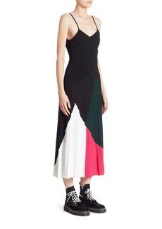 Proenza Schouler Pleated Colorblock Dress