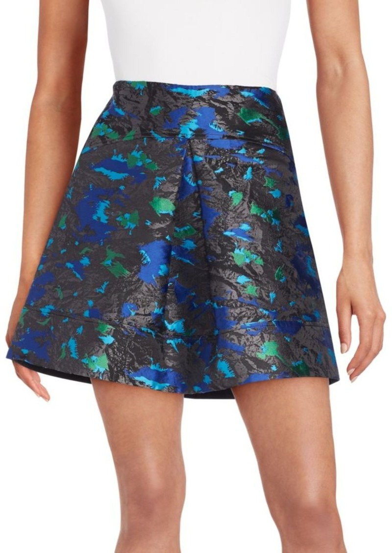 Proenza Schouler Pleated Feather Jacquard Skirt