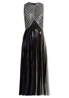 Proenza Schouler Pleated foil cloqué dress