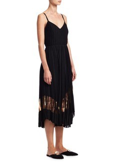 Proenza Schouler Pleated Foil-Print Tank Dress
