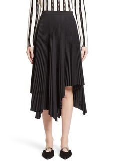 Proenza Schouler Pleated Handkerchief Hem Skirt