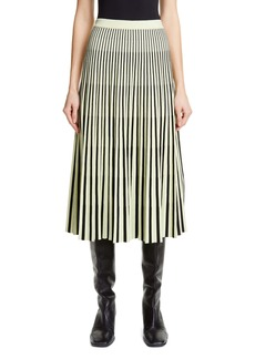 Proenza Schouler Pleated Merino Wool Midi Skirt