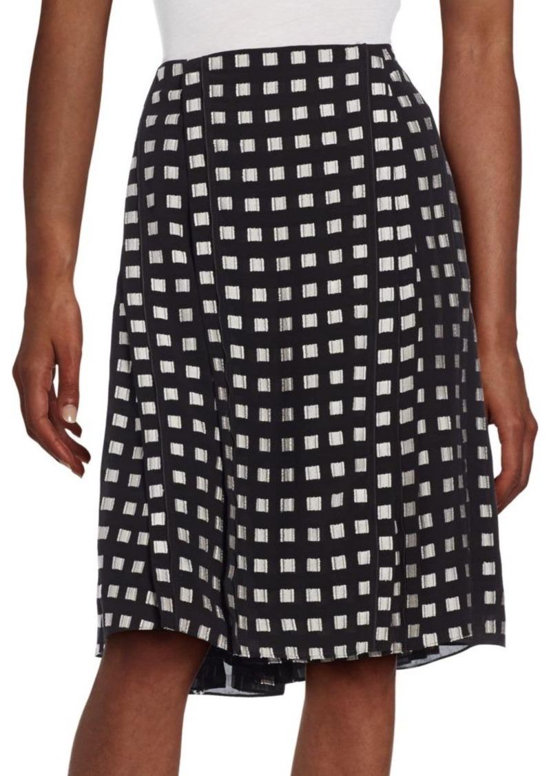 Proenza Schouler Pleated Silk-Blend Skirt
