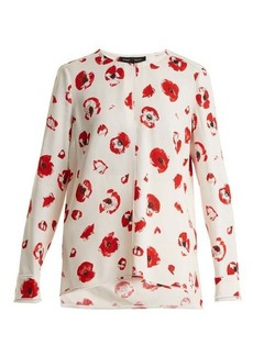 Proenza Schouler Poppy-print crepe blouse