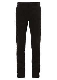 Proenza Schouler Press-studded slim-fit stretch-cotton trousers