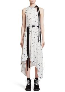 Proenza Schouler Print Silk Asymmetrical Dress