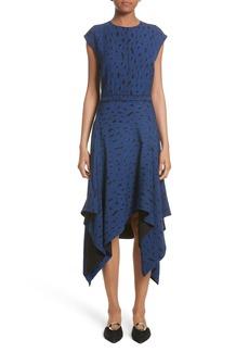 Proenza Schouler Print Silk Georgette Midi dress (Nordstrom Exclusive)