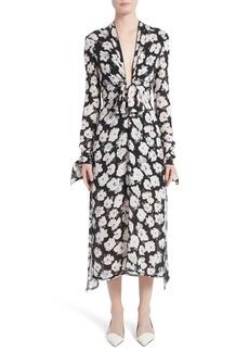 Proenza Schouler Print Silk Midi Dress