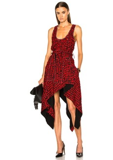 Proenza Schouler Printed Fil Coupe Waist Tie Dress