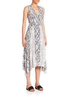 Proenza Schouler Printed Georgette Midi Dress