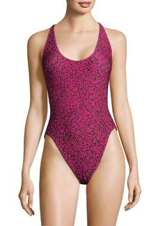 Proenza Schouler Printed One-Piece Swimsuit