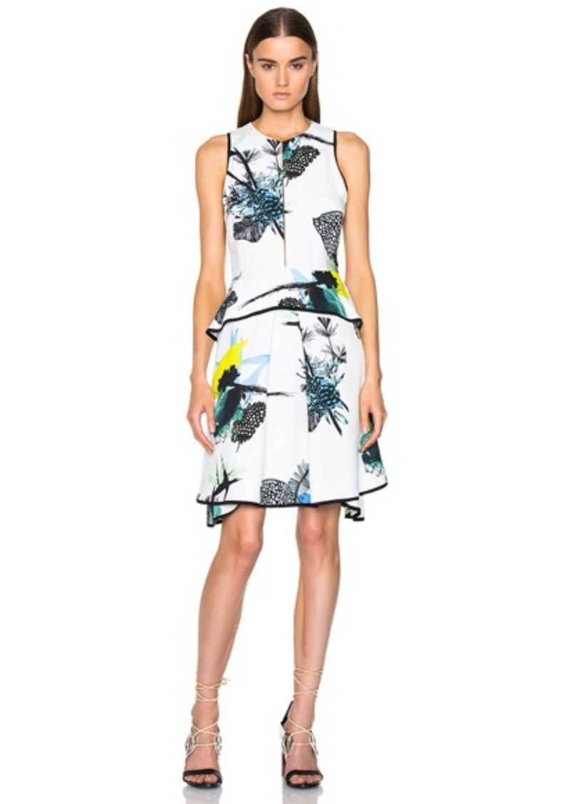 Proenza Schouler Printed Viscose Georgette Waisted Dress