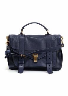 Proenza Schouler PS1 Medium Calfskin Satchel Bag  Midnight