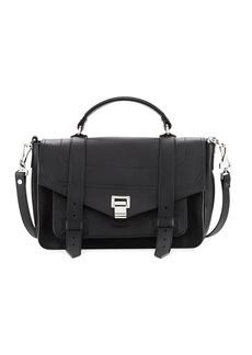 Proenza Schouler PS1 Medium Leather Satchel Bag  Black
