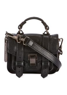 Proenza Schouler PS1 Micro Lux Leather Crossbody Bag  Black