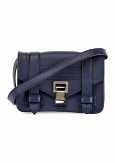Proenza Schouler PS1 Mini Leather Crossbody Bag  Blue