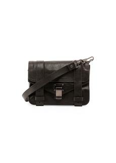 Proenza Schouler PS1 Mini Luxe Leather Crossbody Bag  Black