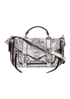 Proenza Schouler PS1+ Tiny Metallic Leather Satchel Bag