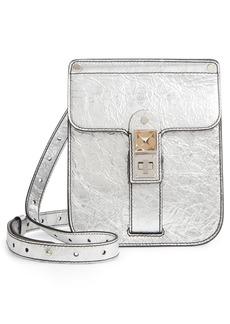 Proenza Schouler PS11 Box Metallic Leather Crossbody Bag