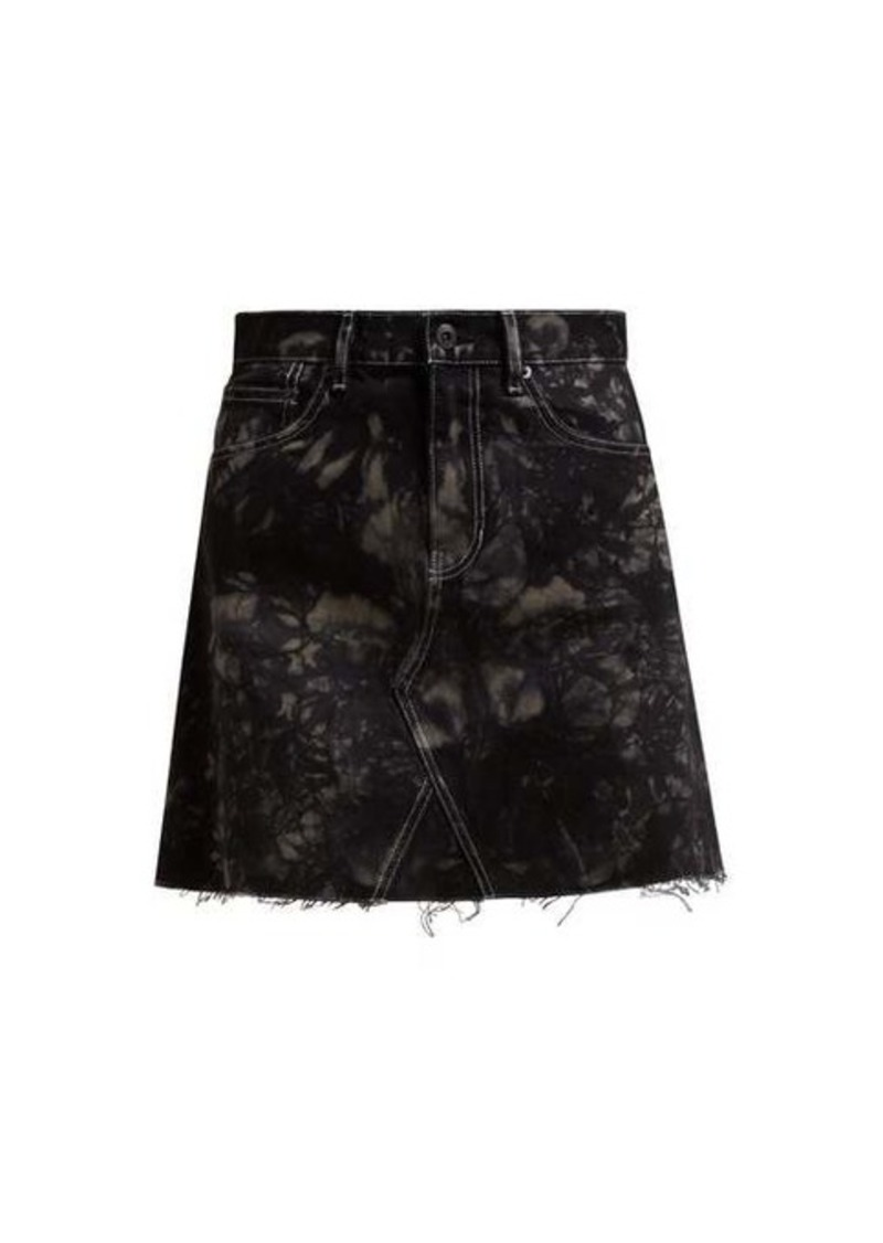 Proenza Schouler White Label Bleached denim mini skirt