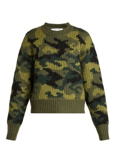 Proenza Schouler PSWL Camouflage cropped wool-blend sweater