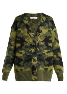 Proenza Schouler PSWL Camouflage wool-blend cardigan