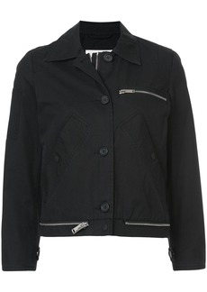 Proenza Schouler PSWL Collared Jacket - Black