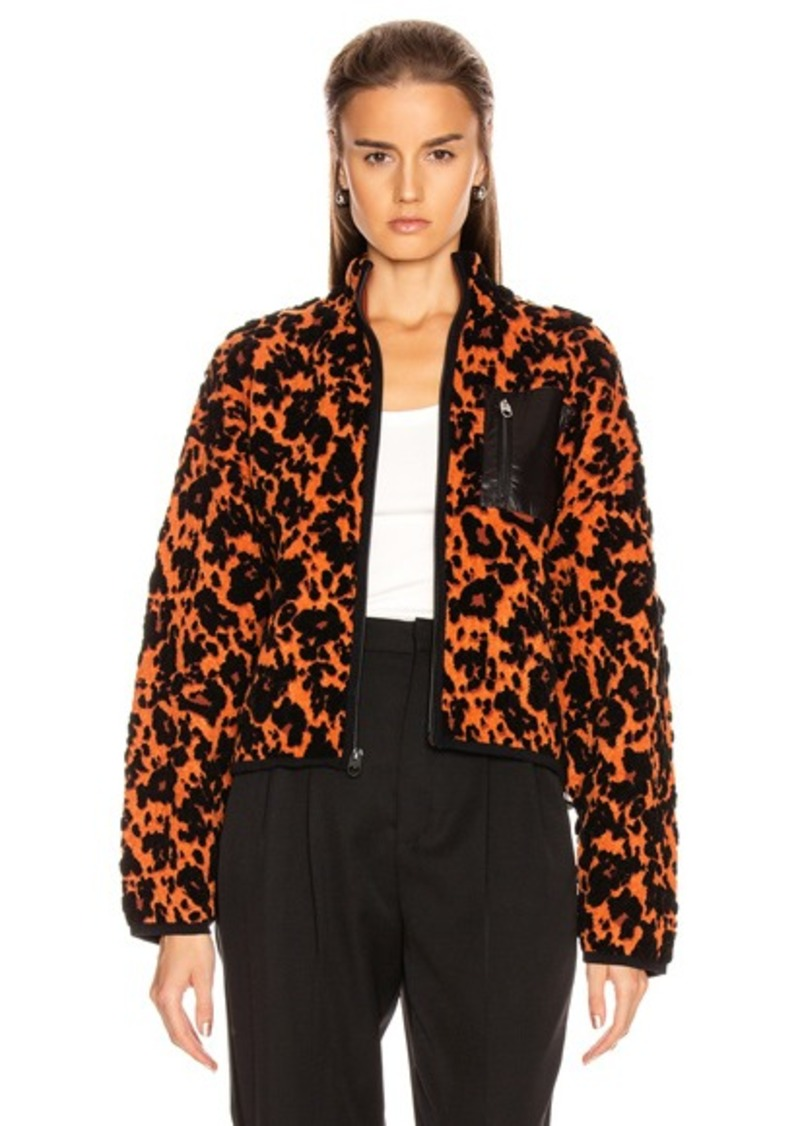 Proenza Schouler White Label Cropped Bomber Jacket