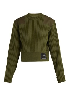 Proenza Schouler PSWL Cropped cotton-blend sweater