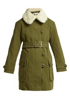 Proenza Schouler PSWL Faux-shearling trim canvas coat