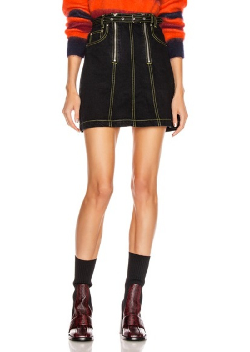 Proenza Schouler White Label Front Zipper Skirt
