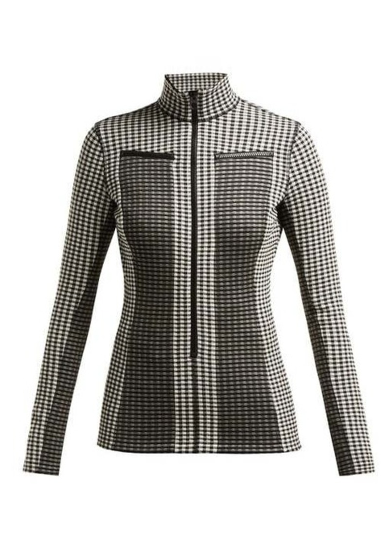 Proenza Schouler White Label Gingham jersey top