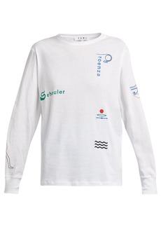 Proenza Schouler PSWL Hieroglyphs-embroidered T-shirt