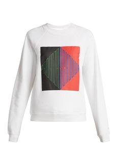 Proenza Schouler PSWL Logo-print cotton-jersey sweatshirt