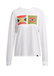 Proenza Schouler PSWL Logo-print long-sleeved cotton T-shirt