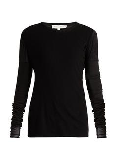 Proenza Schouler PSWL Long-sleeved cotton-gauze top