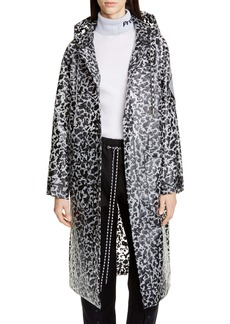 Proenza Schouler White Label Marbled Longline Raincoat