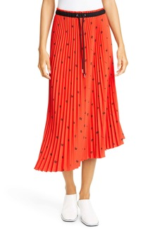 Proenza Schouler White Label Pleated Asymmetrical Skirt