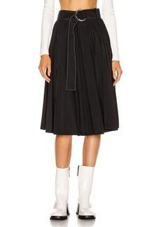 Proenza Schouler White Label Pleated Belt Skirt