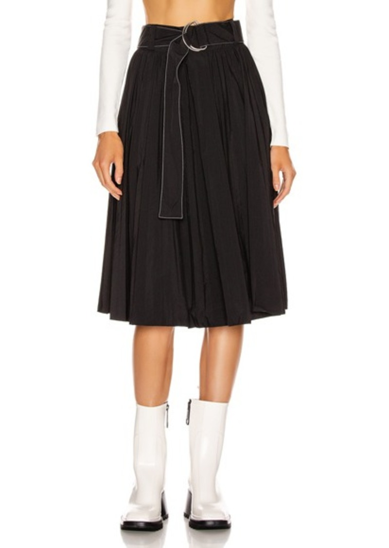 Proenza Schouler White Label Pleated Belt Skirt