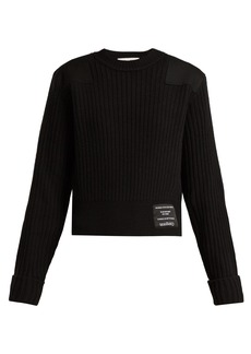 Proenza Schouler PSWL Ribbed-knit cotton-blend sweater