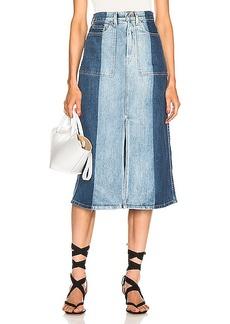Proenza Schouler White Label Slit Denim Skirt