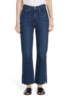 Proenza Schouler PSWL Split Hem Crop Kick Flare Jeans (Arizona)