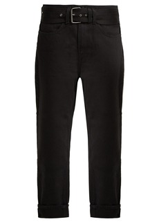 Proenza Schouler PSWL Straight-leg belted turn-up jeans
