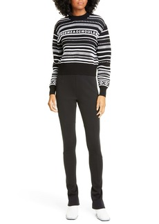 Proenza Schouler White Label Stripe Crop Sweater