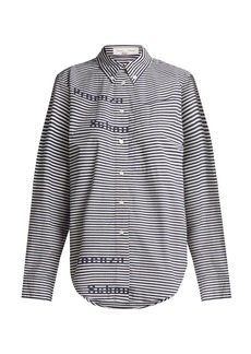 Proenza Schouler PSWL Striped button-down collar shirt
