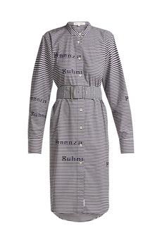 Proenza Schouler PSWL Striped cotton shirtdress